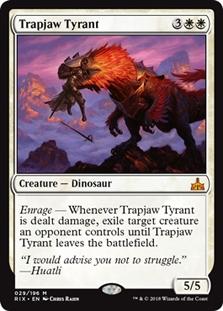 4 TRAPJAW TYRANT ~mtg NM Rivals of Ixalan Mythic x4